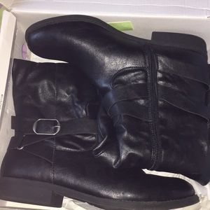 STYLE&CO. Ridding Black Boots